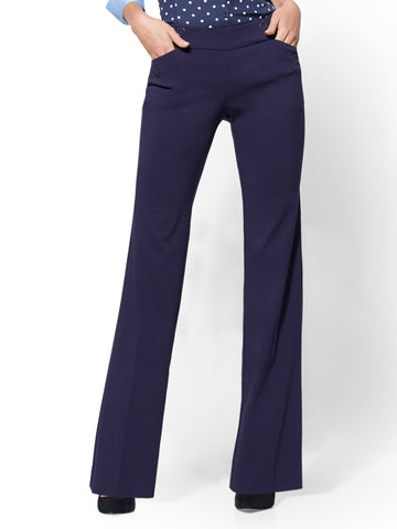 7th Avenue Pant - Button-Accent Bootcut in Grand Sapphire