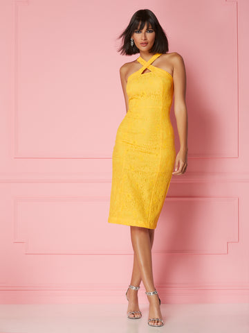 Alejandra Dress - Eva Mendes Party Collection in Top Banana