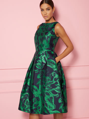 Felicity Dress - Eva Mendes Collection in Warrior Green