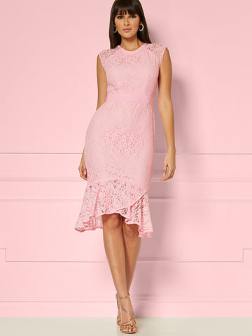 Jacinta Dress - Eva Mendes Party Collection in Prissy Pink