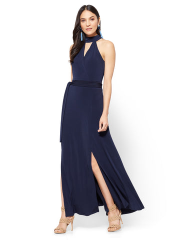 Halter Maxi Dress in Grand Sapphire