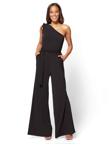 One-Shoulder Jumpsuit in Black