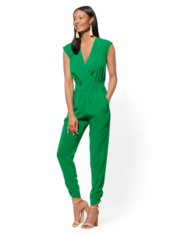 Wrap Jumpsuit in Irish Landscape