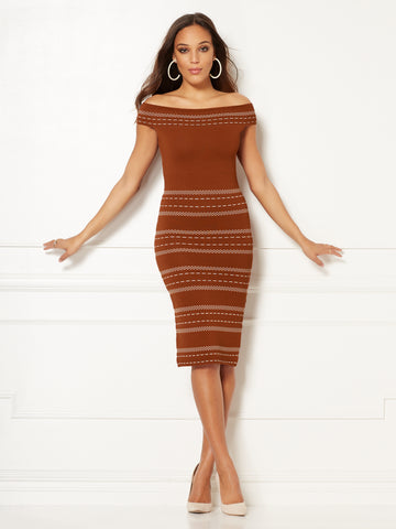 Eva Mendes Collection - Chantelle Dress in Rodeo Rust
