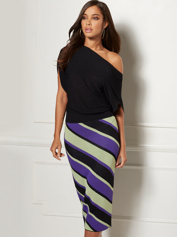 Kai Sweater Dress - Eva Mendes Collection in Black