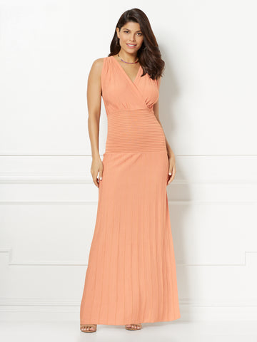Eva Mendes Collection - Laurene Maxi Dress in Honey Puff