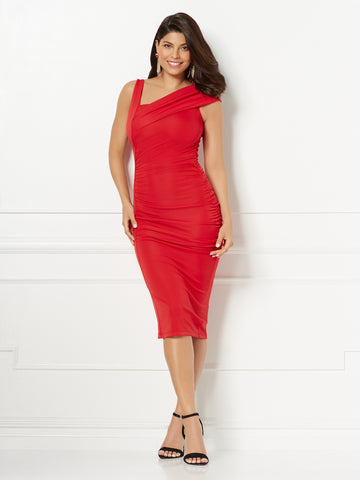 Eva Mendes Collection - Priyanka Dress in Siren Red