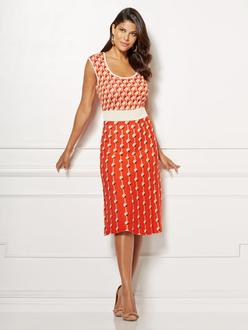 Eva Mendes Collection - Daria Dress in Sweltering Sunset