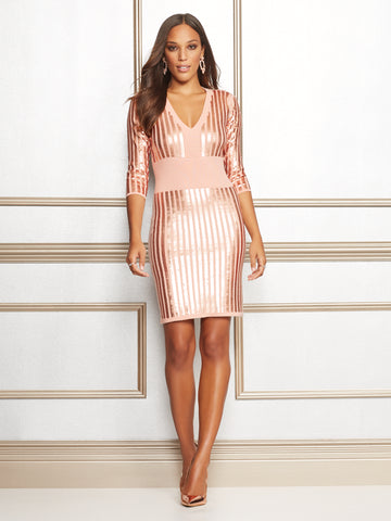 Eva Mendes Collection - Christal Dress in Pink Ambrosia