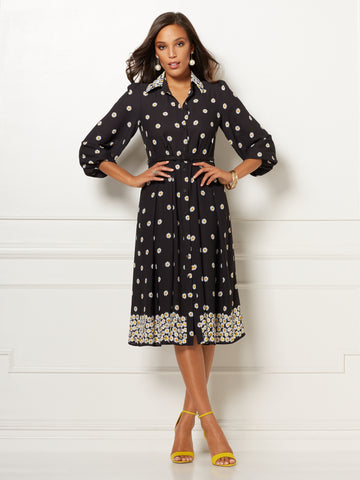 d3ffc688e6 New York & Company Black Floral Pia Shirtdress - Eva Mendes Collection in  Black