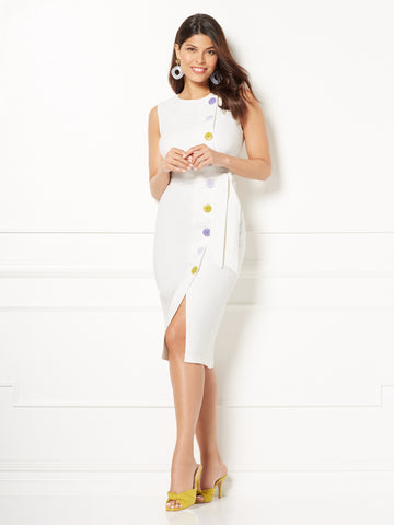 Eva Mendes Collection - Emme Sheath Dress in Optic White