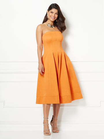 fdbd58a81422 New York   Company Eva Mendes Collection - Liv Strapless Dress in Tuscan  Orange