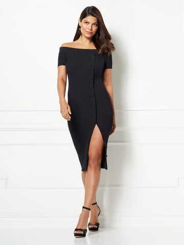 Eva Mendes Collection - Daveena Midi Dress in Black