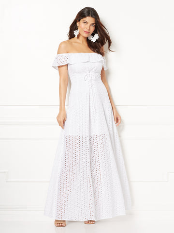 Eva Mendes Collection - Carmela Maxi Dress in Optic White