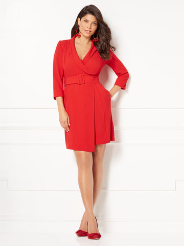 Eva Mendes Collection - Dasha Jacket Dress in Siren Red