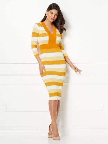 Eva Mendes Collection - Francisca Dress in Pumpkin Rhymes