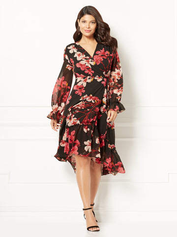 3177d032c97 New York   Company Eva Mendes Collection - Georgina Wrap Dress in Black