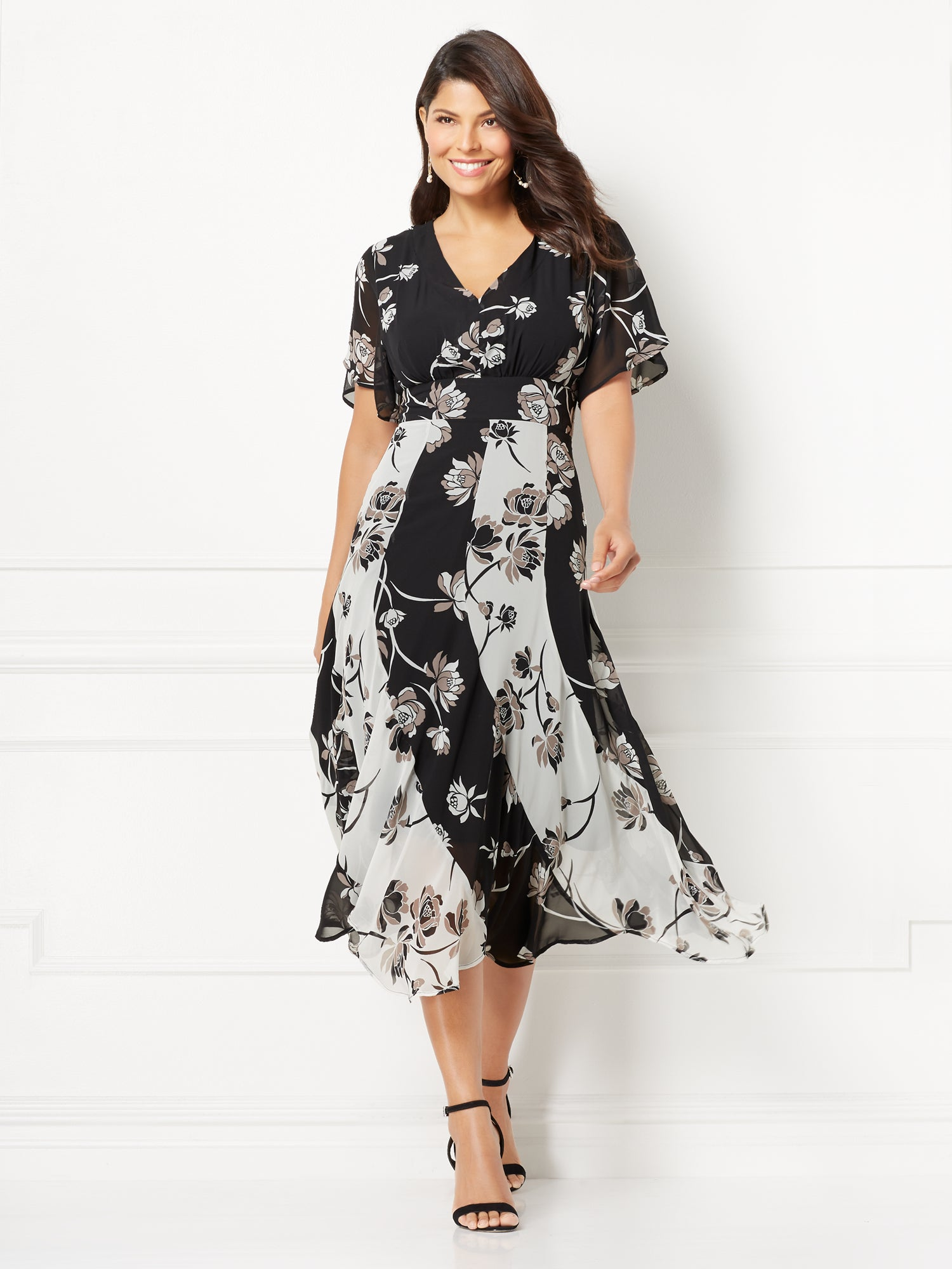 New York Company Eva Mendes Collection Sylvia Maxi Dress In