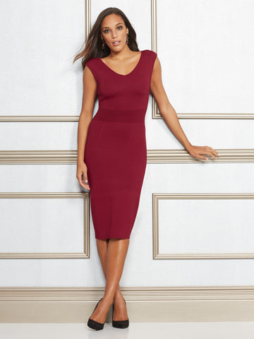 Eva Mendes Collection - Dascha Dress in Cherry Cordial