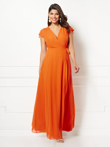 Eva Mendes Collection - Allison Dress in Orange Popsicle