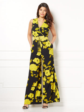 b8b3acf708fa New York   Company Eva Mendes Collection - Diana Corset Jumpsuit in Black