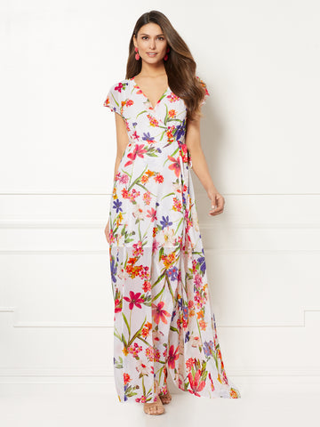 Eva Mendes Collection - Allison Maxi Dress in Paper White