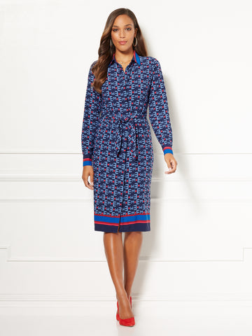 Eva Mendes Collection - Sharise Shirtdress in Dark Blue