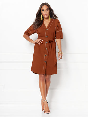 Christi Shirtdress - Eva Mendes Collection in Rodeo Rust