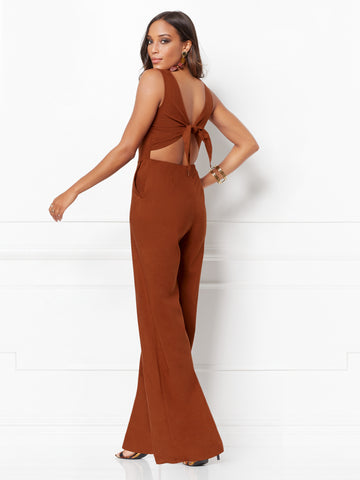 f7bd9b307d4e New York & Company Trudie Jumpsuit - Eva Mendes Collection in Rodeo Rust