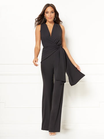 739e95ad45f5 New York & Company Chalina Jumpsuit - Eva Mendes Collection in Black