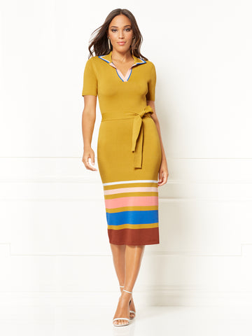 1fe614930e New York   Company Karla Sweater Sheath Dress - Eva Mendes Collection in  Gold