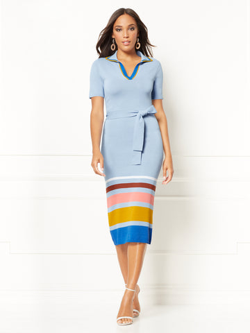Karla Sweater Dress - Eva Mendes Collection in Fresco Blue