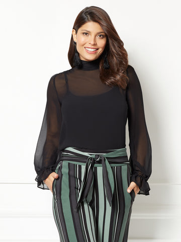 Eva Mendes Collection - Sevan Blouse in Black