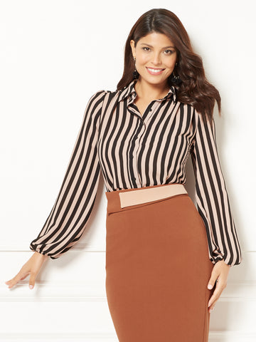 Eva Mendes Collection - Teresa Blouse in Cider Spice