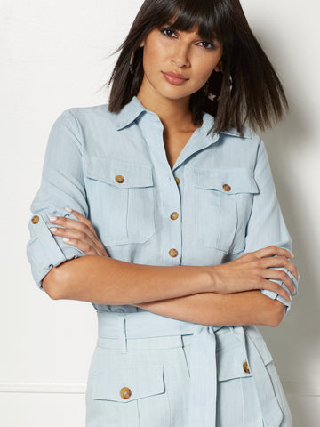 Brianne Shirt - Eva Mendes Collection in Light Wash
