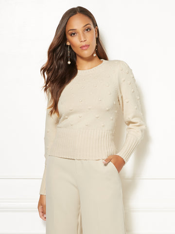Eva Mendes Collection - Darci Sweater in Baked Ivory