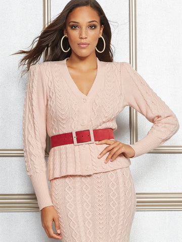 NEW YORK   COMPANY Eva Mendes Collection - Mica Cardigan in Pink Sky 015d472c3