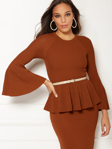 Eva Mendes Collection - Bailey Sweater in Rodeo Rust