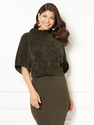 Eva Mendes Collection - Sigrid Chenille Sweater in Grey Onyx