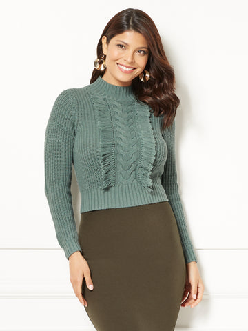 Eva Mendes Collection - Kalina Sweater in Huntress Green