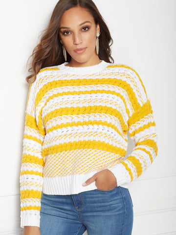 f54051d63ce New York   Company Eva Mendes Collection - Skylar Sweater in Gold Award