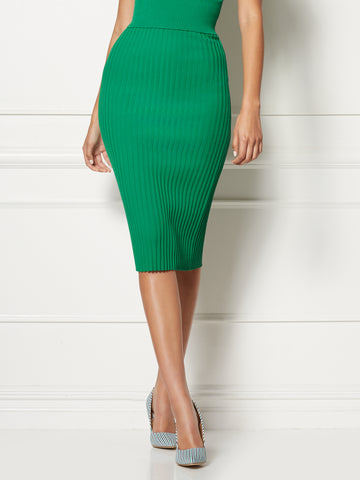 Jacqui Skirt - Eva Mendes Collection in Awesome Green
