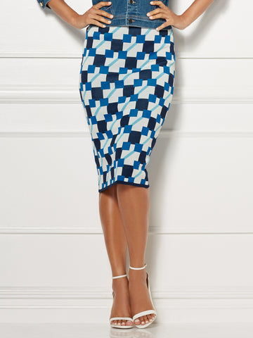 Eva Mendes Collection - Sylvie Sweater Skirt in Dark Blue