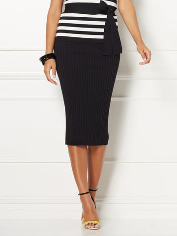 bad914290 New York & Company Eva Mendes Collection - Shonda Sweater Skirt in Black