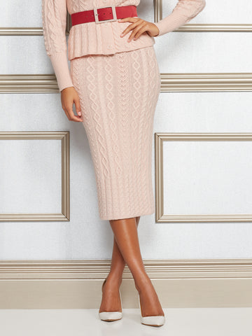 Eva Mendes Collection - Shania Sweater Skirt in Pink Sky