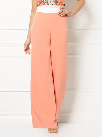 Eva Mendes Collection - Tracee Palazzo Pant in Island Coral