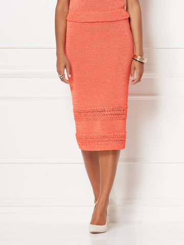 a193f02c3 New York & Company Jessie Skirt - Eva Mendes Collection in Orange Bubbly