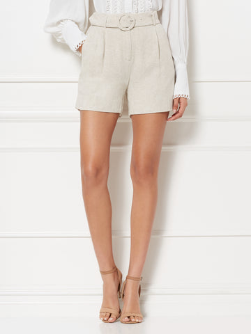 Kylee Linen Short - Eva Mendes Collection in Natural