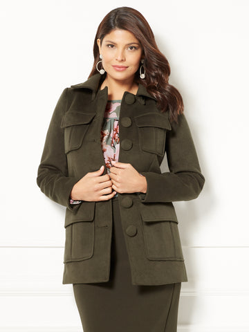 Eva Mendes Collection - Camryn Coat in Grey Onyx