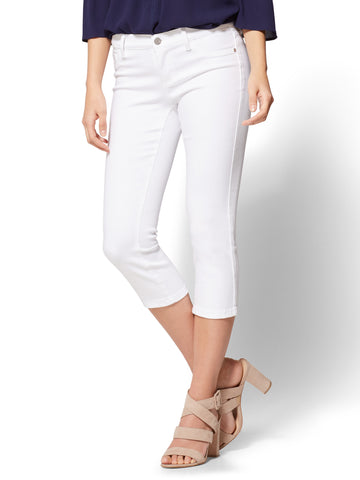 Soho Jeans - Cropped Legging in Optic White